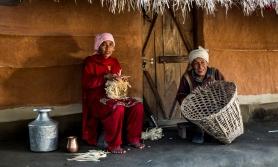 Sepet ören Nepalli kadınlar