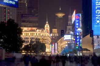 Nanjing Caddesi'nde gece