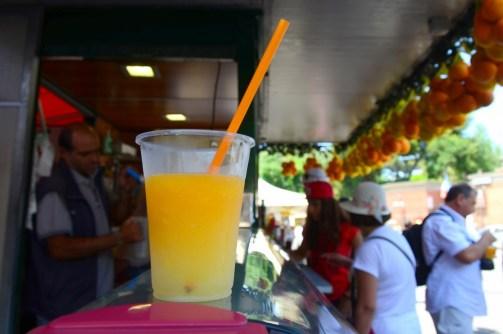 Granite, limon parçacıkları, portakal ve ince kırılmış buzla yapılan nefis bir içecek